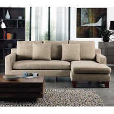 Ankara right hand modular corner sofa fawn
