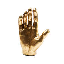 Gold hand figurine