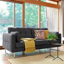 Paris three seater sofa charcoal fabric