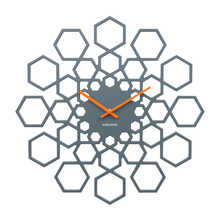 Hexagon sun wall clock
