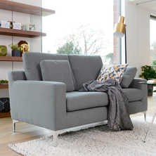Oslo two seater sofa dark grey felt