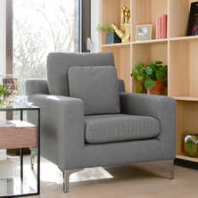 Oslo armchair dark grey felt