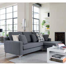 Oslo right hand corner sofa graphite ...