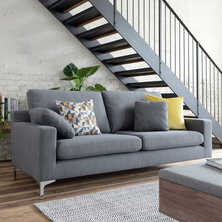 Oslo three seater sofa graphite fabric