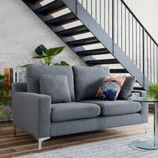 Oslo two seater sofa graphite fabric