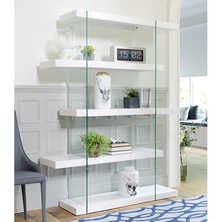 Treble tall shelving white