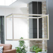 Frame cube pendant light rectangle