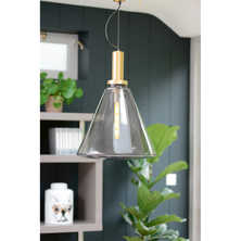 Pyramid glass pendant light