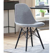 Eiffel dining chair with black beech ...