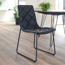 Portela dining chair leather black
