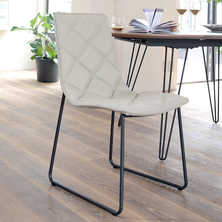 Portela dining chair leather white