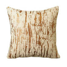 Crackled metallic cushion copper