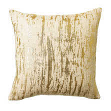 Crackled metallic cushion gold