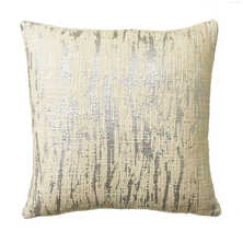 Crackled metallic cushion silver
