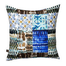 Bohemian indigo cushion
