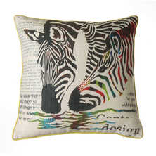 Zebra human two sided cushion