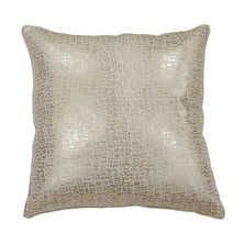 Metallic cushion silver
