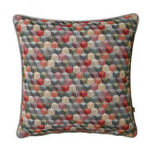 Graphic cubes cushion