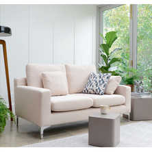 Oslo two seater sofa cream fabric