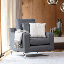 Oslo leather armchair grey
