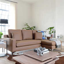 Oslo leather right hand corner sofa ...