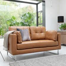 Paris leather two seater sofa ...