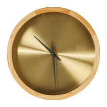 Gold face wall clock medium