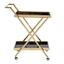 Drinks trolley black and gold