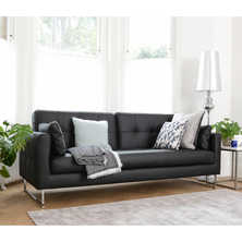 Paris leather three seater sofa bed ...