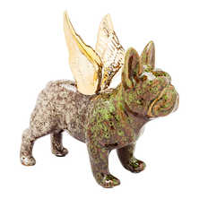 French bulldog wings figure green
