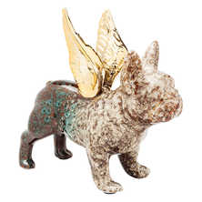 French bulldog wings figure blue