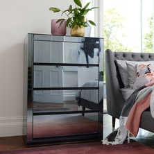 Reflect smoked mirrored tall chest ...