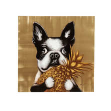 French bulldog pineapple art