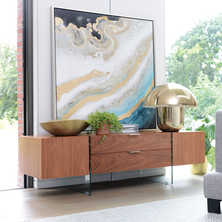 Treble TV unit walnut