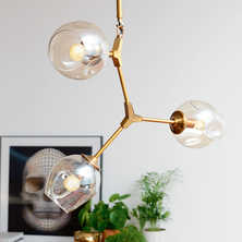 Molecule three shade pendant light