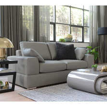 Verona leather two seater sofa bed ...