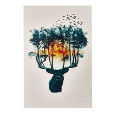 Stag trees art
