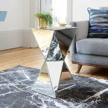 Espello mirrored side table