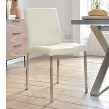 Jenkins faux leather dining chair white
