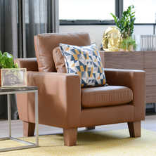 Ankara leather armchair natural tan