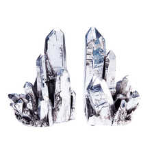 Crystal pair of book ends
