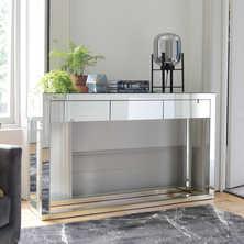 Reflect mirrored three drawer ...