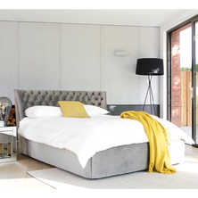 Cavendish storage bed double grey velvet