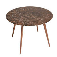Lucerne mocha marble dining table round