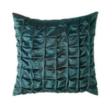 Quilted cushion teal