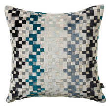 Pixel cushion blue
