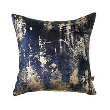 Blur metallic cushion navy