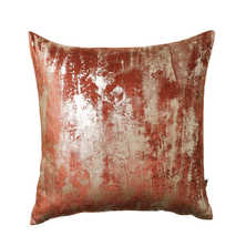 Blur metallic cushion terracotta