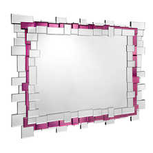 Mosaic mirror aubergine and clear
