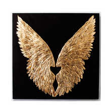 Wings feather art black